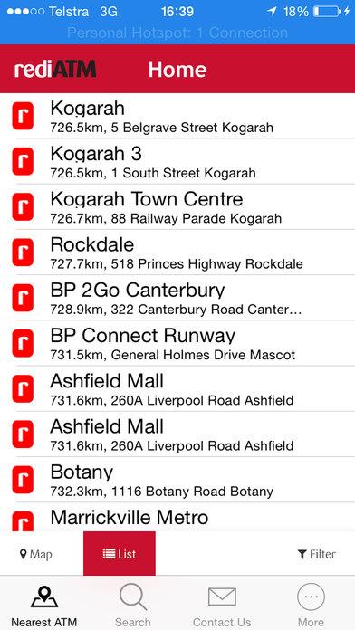 rediATM Finder iPhone Screenshot 1