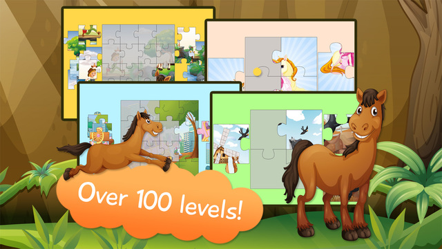 Kids Jigsaw Puzzle Horses