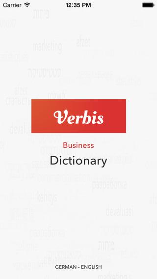 Verbis English – German Business Dictionary. Verbis Deutsch – Englisch Business Wörterbuch