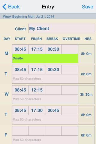 timesheet plus free iphone ipad app app decide