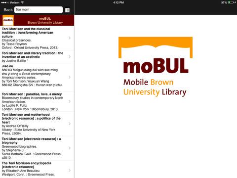 moBUL Brown Library iPad Screenshot 2