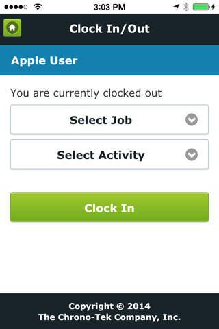 Chronotek Mobile screenshot 2