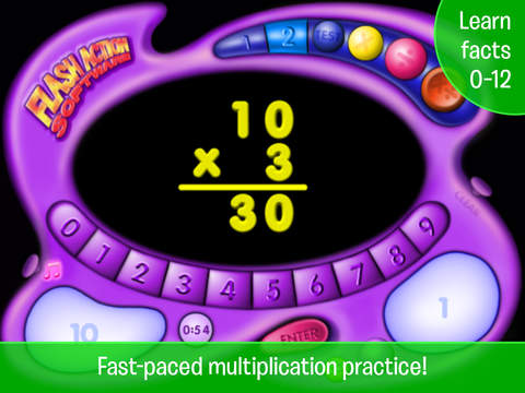 Multiplication & Division Flash Action iPad Screenshot 1