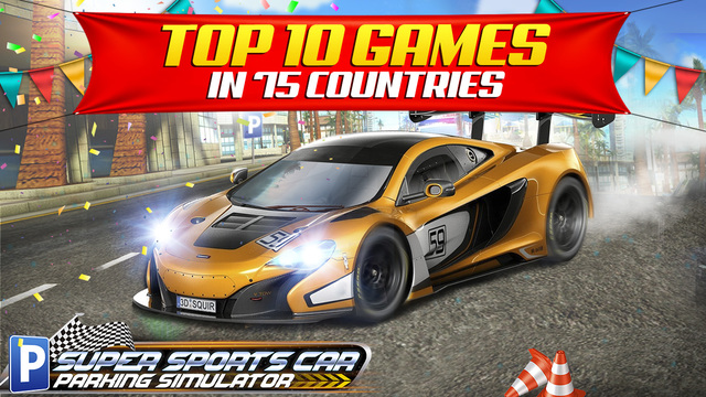 Super Sports Car Parking Simulator - Real Driving Test Sim Racing Games