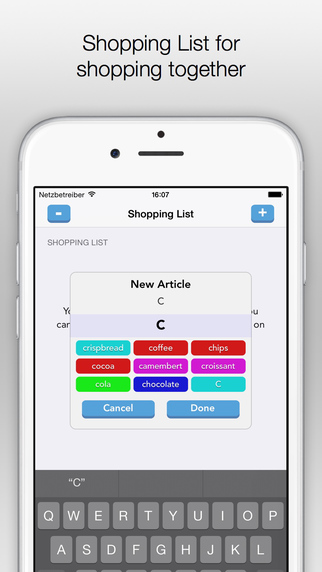 Family-Shopping List with Synchronization