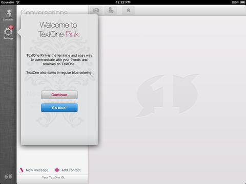 TextOne Pink iPad Screenshot 2