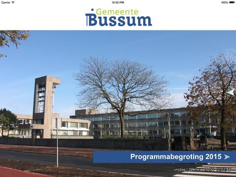 Begrotingsapp Gemeente Bussum 2015