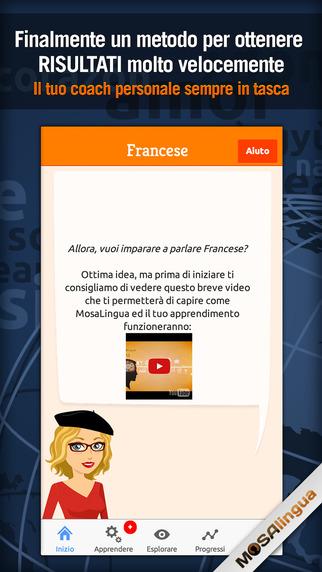 Francese : Imparare e Memorizzare rapidamente con MosaLingua