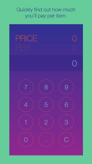 PricePer - Shopping Calculator