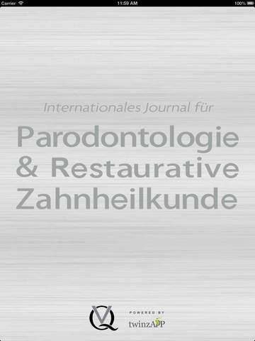 Internationales Journal für Parodontologie Restaurative Zahnheilkunde