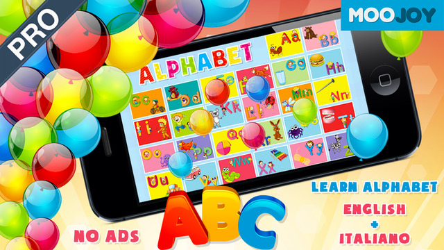 Pro ABC Preschool Alphabet Phonics: Reading Letters Words at School - Moojoy