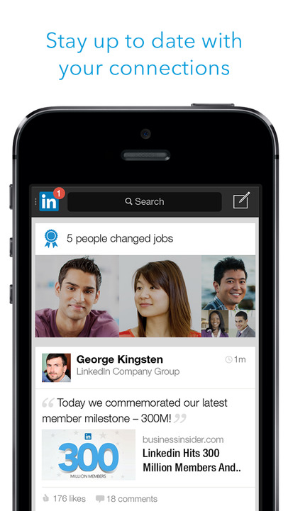 LinkedIn - iPhone Mobile Analytics and App Store Data