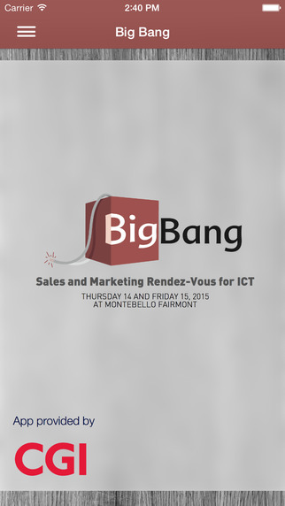 Big Bang 2015 – Sales and Marketing Rendez-Vous for ICT