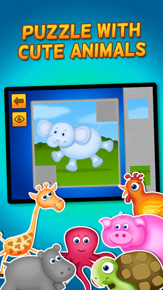 Kids Play Animals Puzzles for Toddlers and Preschoolers - Free