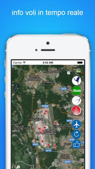 IT Tracker Pro: Stato di volo dal vivo per l'Italia