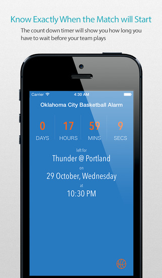 Oklahoma City Basketball Alarm Pro