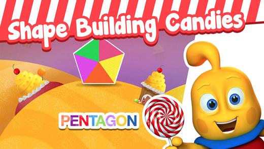 Candy Bricks - Shape Building Jigsaw Puzzle for Toddlers in Preschool Kindergarten 1st Grade FREE