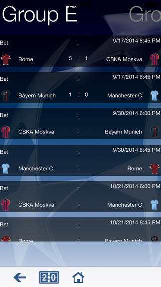Champions League Predictor