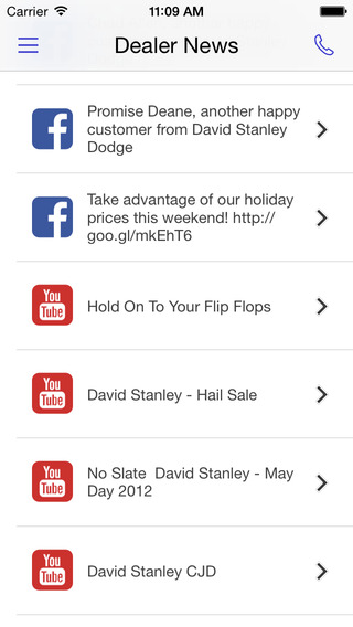 David Stanley Chrysler Jeep Dodge Dealer App iPhone Screenshot 4