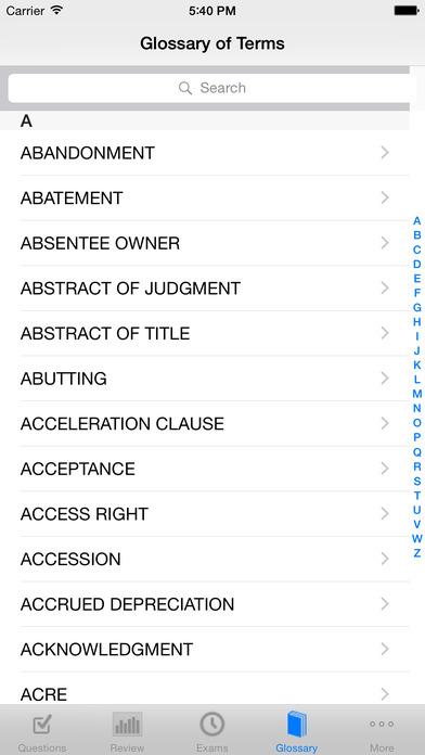 Real Estate Broker Exam High Score Kit - Premium Edition iPhone Screenshot 1