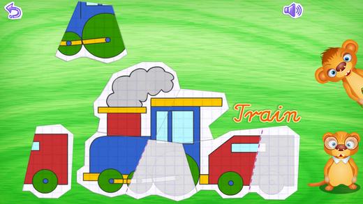 123 Kids Fun PAPER PUZZLE Free - Preschool and kindergarten learning games