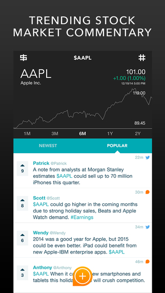 Chatter by ClosingBell - Trending Stock Market Commentary with Real-Time Conversation Quotes and Cha
