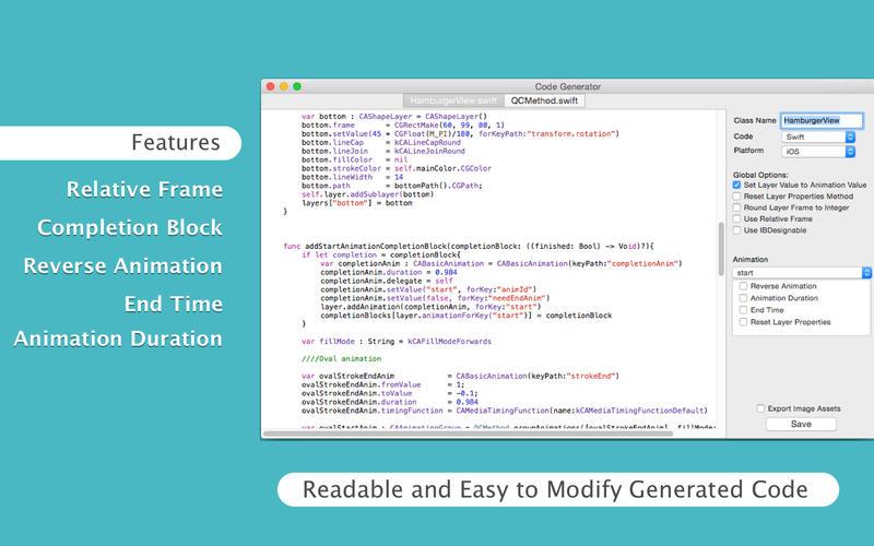 QuartzCode for Mac 1.54 注册版 – 优秀的iOS动画编程工具-麦氪派