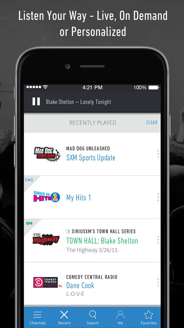 SiriusXM Screenshot