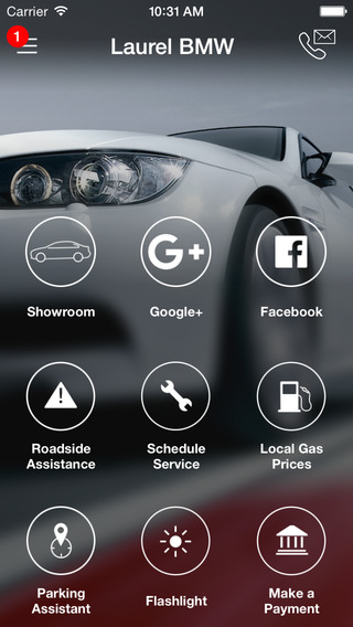 Laurel BMW DealerApp iPhone Screenshot 1