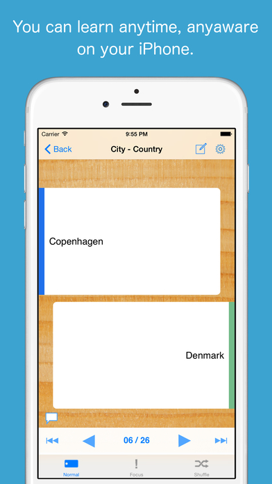 FlashcardBox iPhone Screenshot 1