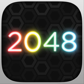 GeoMatch - 2048 experience with glowing neon particle explosions LOGO-APP點子