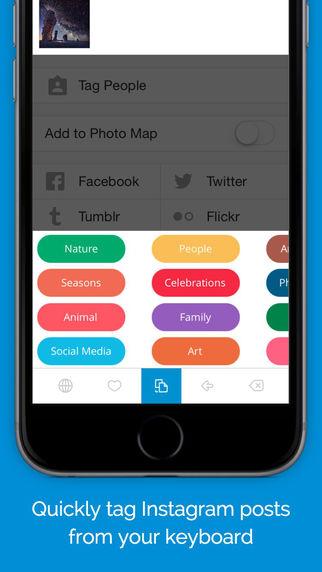 TagsDock-Add Hashtags for Instagram from keyboard app