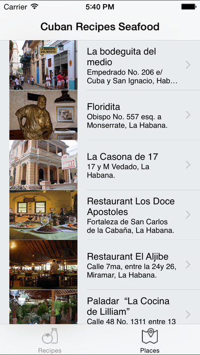 Cuban Recipes - Seafood iPhone Screenshot 3