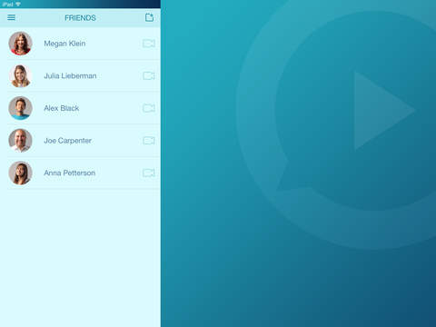 Video Chat for Facebook Friends, Free Video Calling App for iPhone, iPod, iPad and online chat - VideoCalls.io screenshot