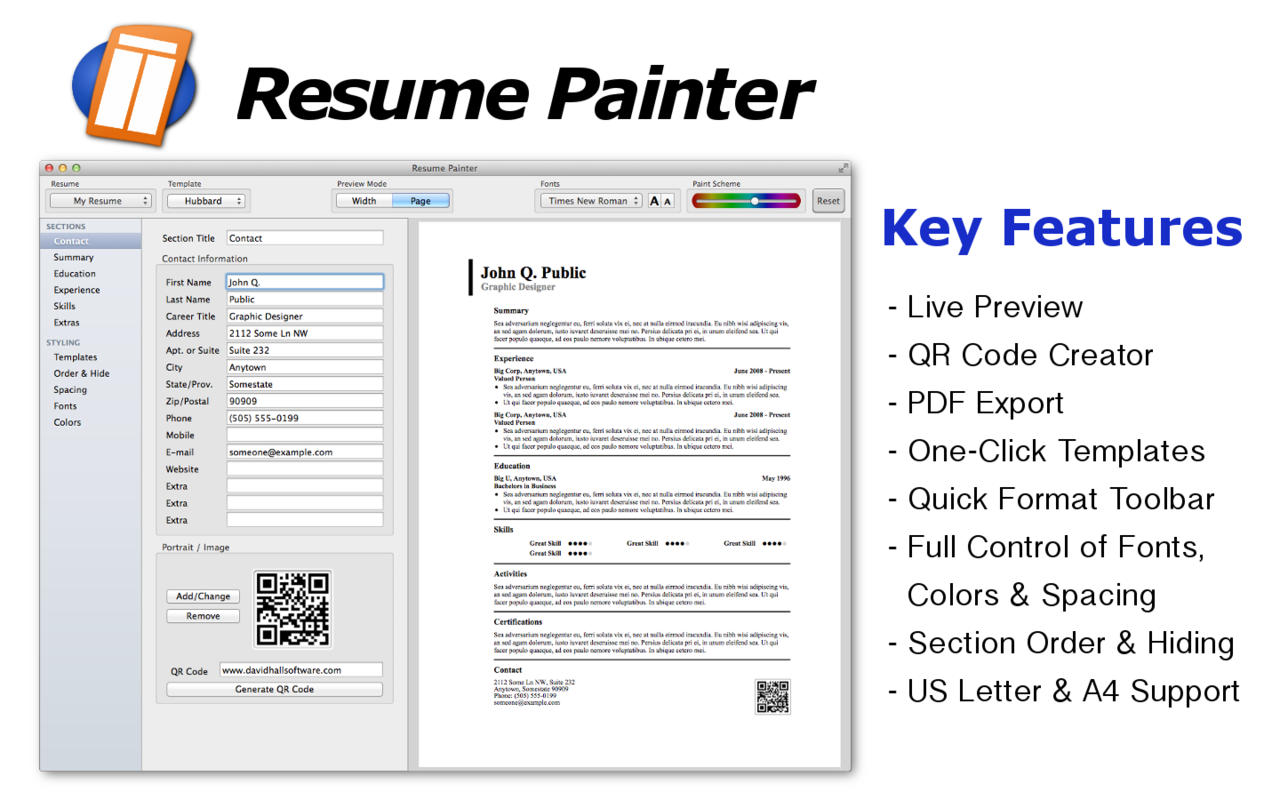 app shopper resume painter productivity