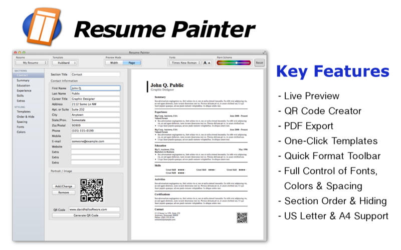 Resume Painter on the Mac App Store