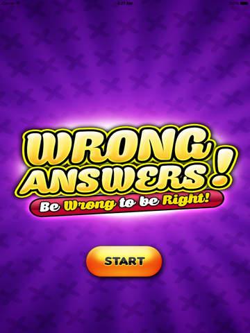 Wrong Answers HD
