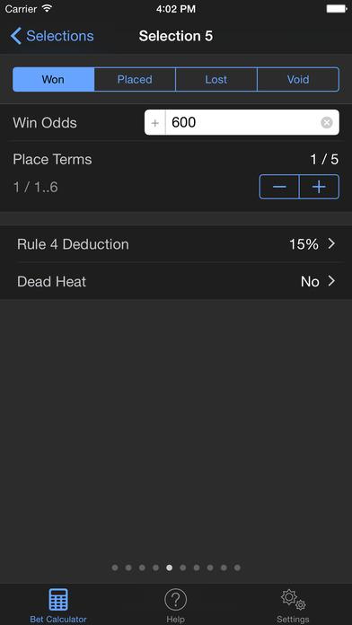 Sports Bet Calculator iPhone Screenshot 3