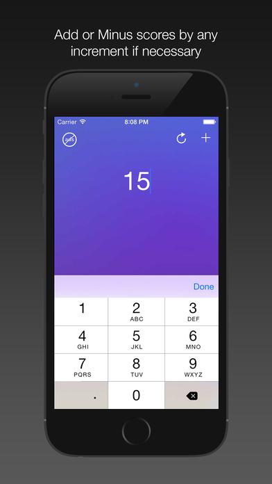 Score Keeper HD Pro screenshot 2