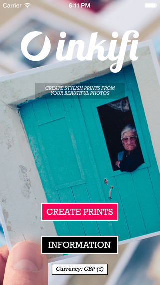 Inkifi - Order prints of your Instagram and iPhone photos