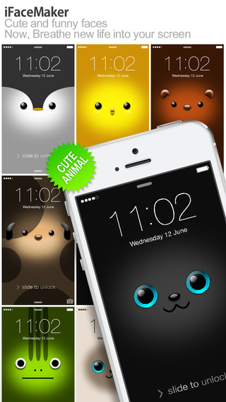【免費社交App】iFaceMaker ( Cute and funny faces ) : for Lock screen, Call screen, Contacts profile photo, instagram-APP點子