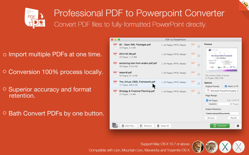 PDF to PowerPoint Lite by Feiphone Screenshot - 1