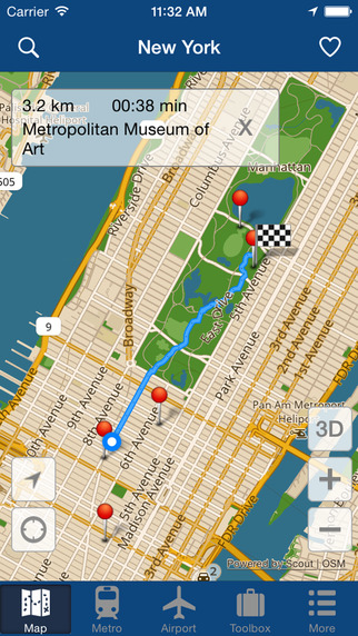 New York Offline Map - City Metro Airport with Travel Trip Planner Screenshots
