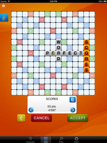 Descrambler - unofficial word game solver for SCRABBLE®, Words with Friends and Wordfeud crossword games screenshot