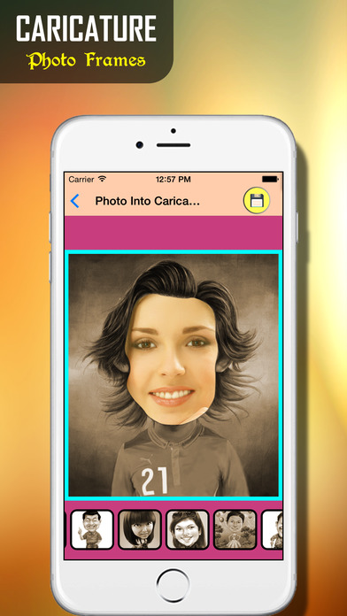 Face Caricature - Cartoon Photo: Insta Cartoon Maker for your Pictures iPhone Screenshot 2