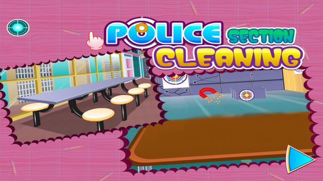 Police section cleaning - girls games