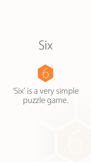 SIX - addictive number chain puzzle