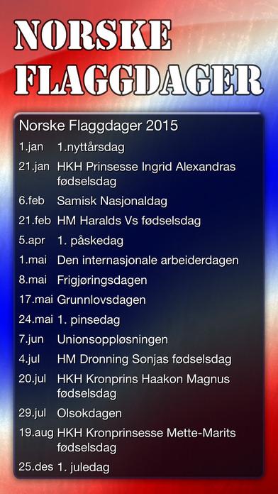 Norske Flaggdager iPhone Screenshot 1