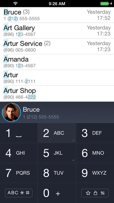 iCaller - T9 set, fast, search for contacts,secret Screenshots