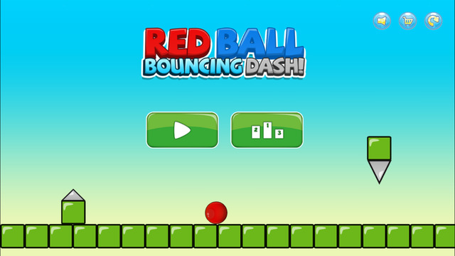 A Red Ball Bouncing Dash - Don't Touch the Spikes